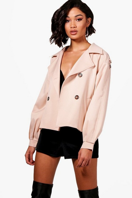 Hannah Crop Trench Coat