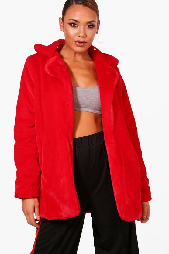 Emmy Faux Fur Collared Coat