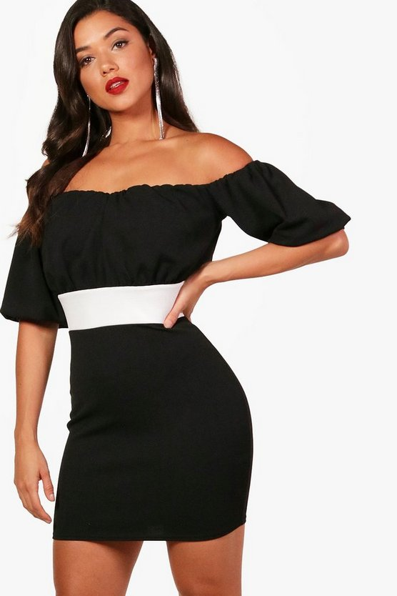 Layla Off the Shoulder Puff Sleeve Mini Dress
