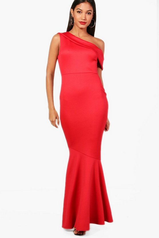 Keelia One Shoulder Fishtail Maxi Dress