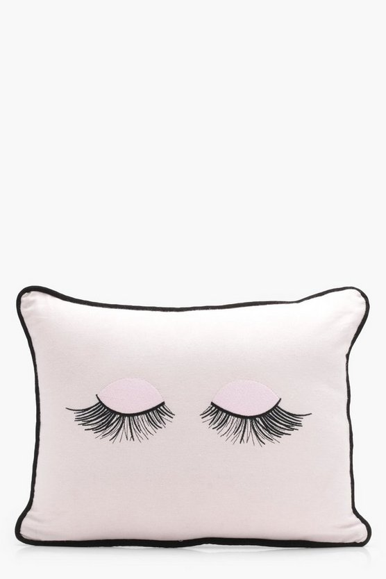 Piped Eyelash Embroidery Cushion