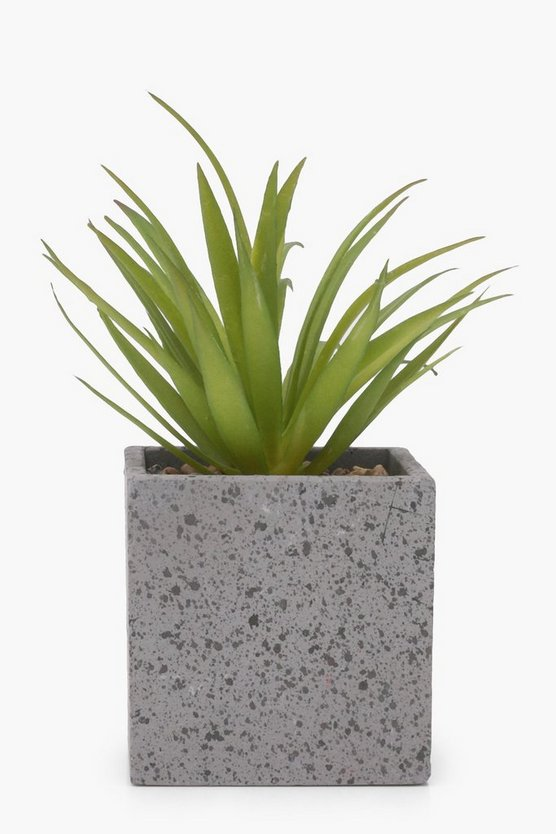 Ceramic Square Pot Faux Plant