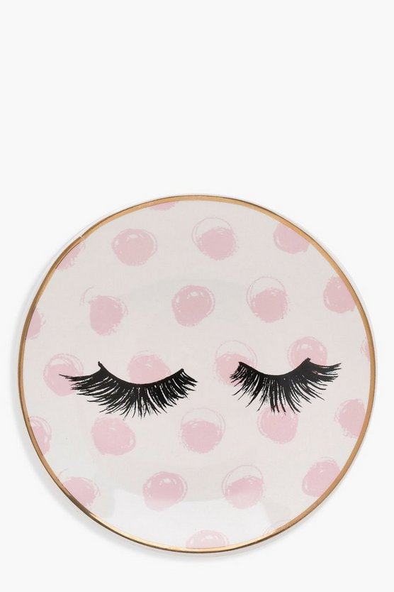 Round Eyelash Ceramic Soap Dish