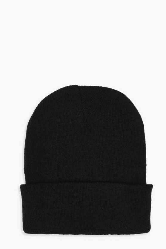 Jodie Basic Rib Turn Up Beanie