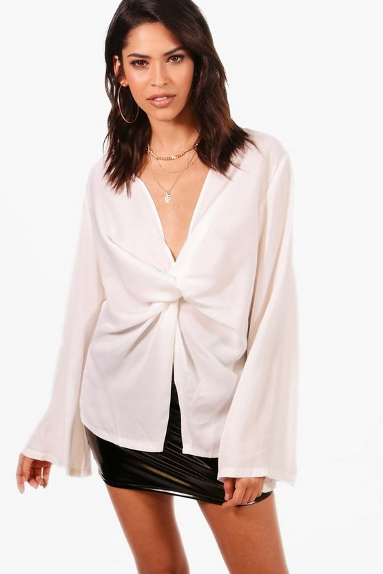 Keeley Knot Front Blouse