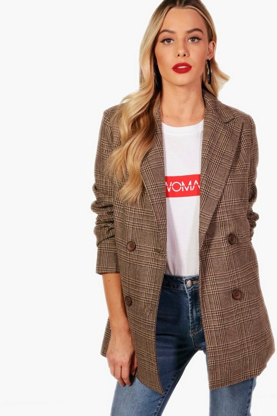 Bella Check Wool Blazer