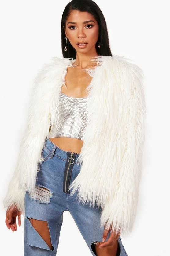 Sophia Shaggy Faux Fur Coat