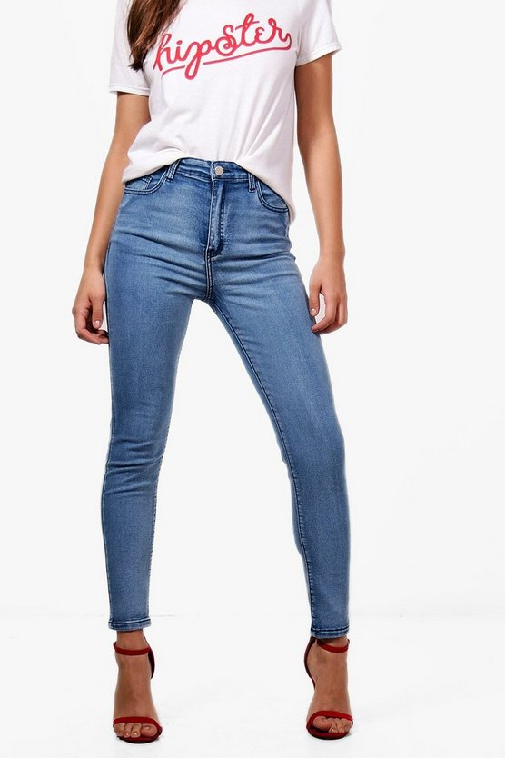 Jade High Rise Ankle Grazer Skinny Jeans