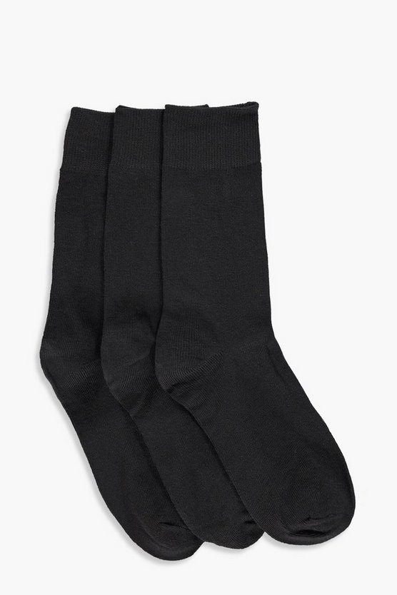 Katie 3 Pack Plain Ankle Socks