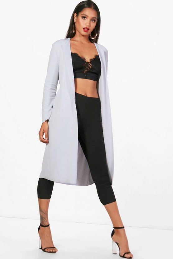 Darcy Long Sleeve Tie Waterfall Duster