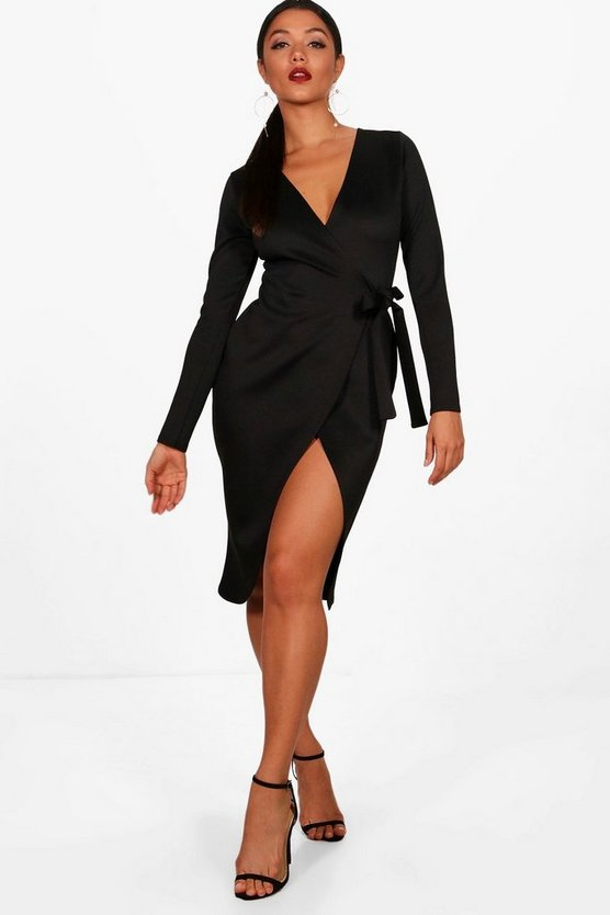 Sarah Wrap Front Tie Dress