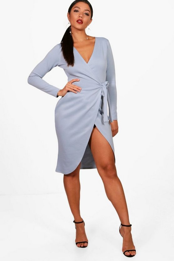 Wrap Front Tie Dress