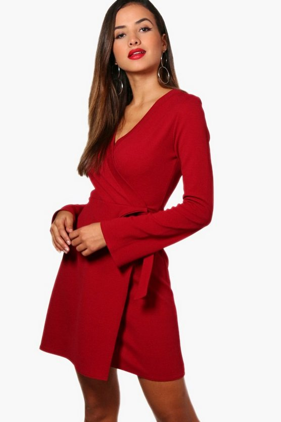 Erin Wrap Over Tie Dress