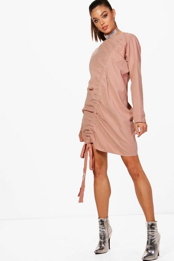 Jade Drawstring Detail Shift Dress