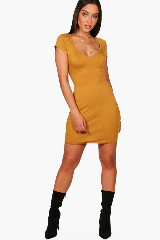 Amelia Sweetheart Neck Jersey Bodycon Dress