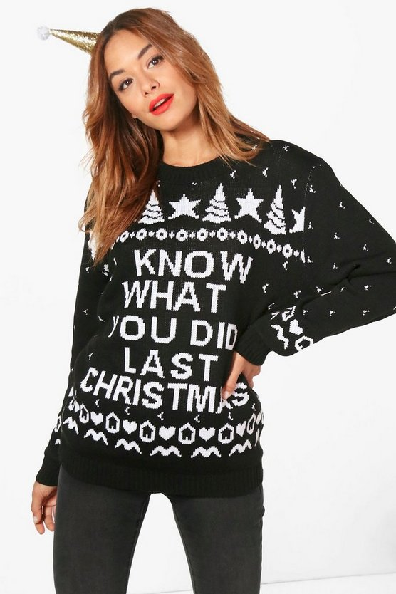 Georgia 'I Know What You Did' Christmas Jumper