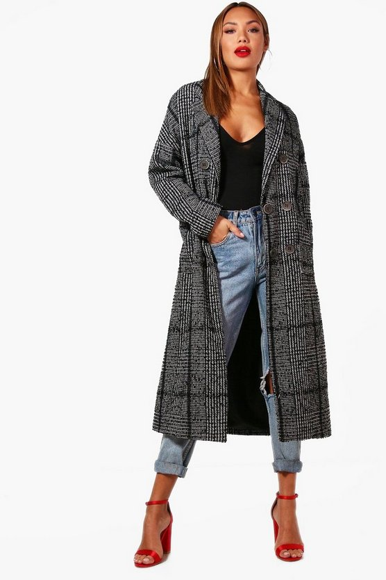 Darcy Check Wool Coat