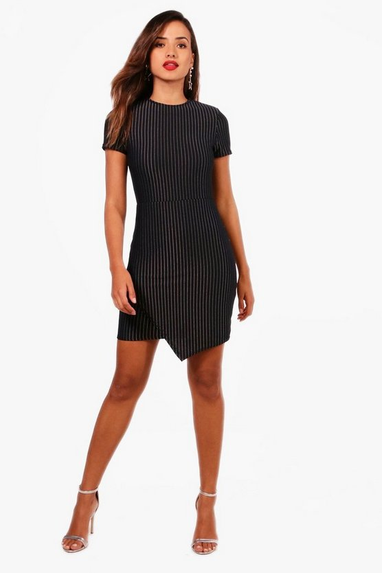 Frida Pinstripe Bodycon Dress