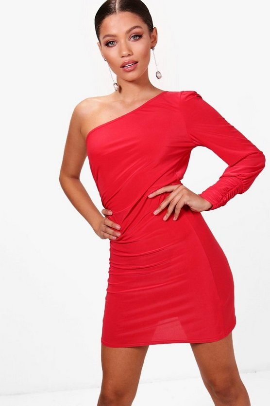 Slinky Ruched Side Bodycon Dress