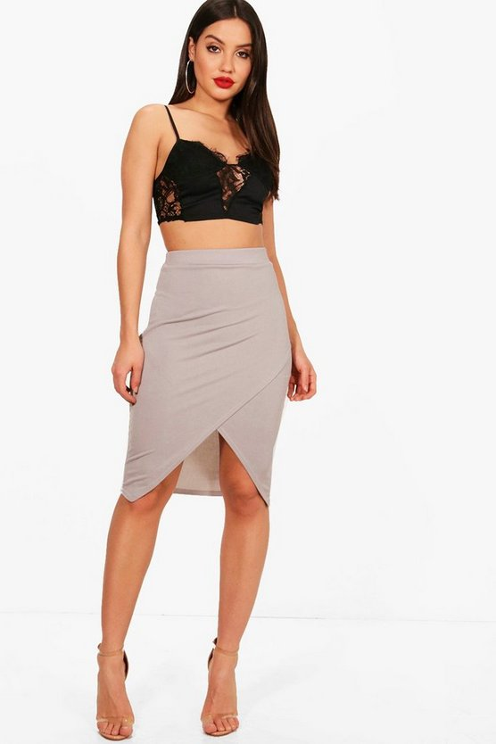 Lucy Wrap Over Midi Skirt