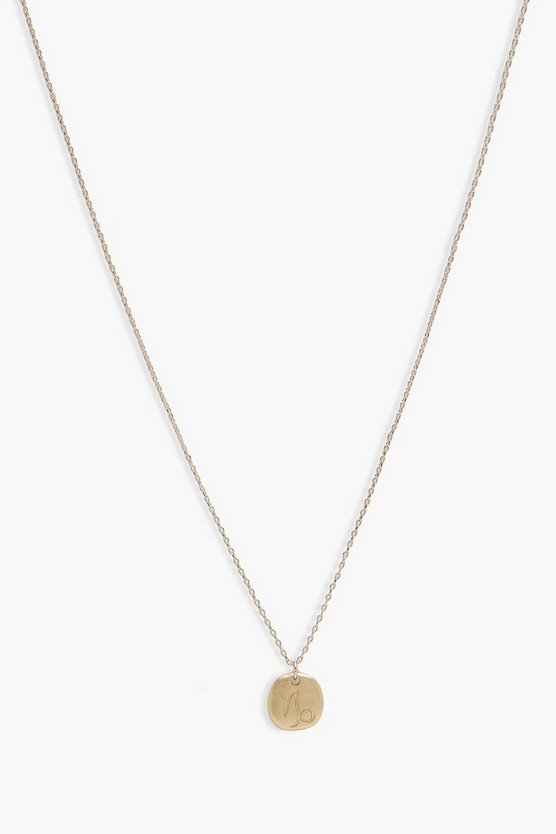 Millie Capricorn Zodiac Pendant Necklace