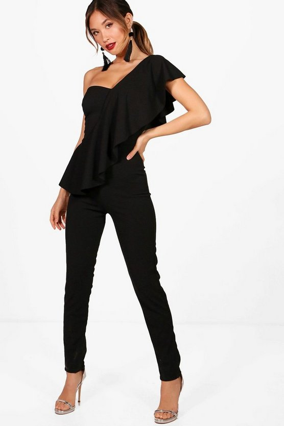 Frill One Shoulder Jumpsuit