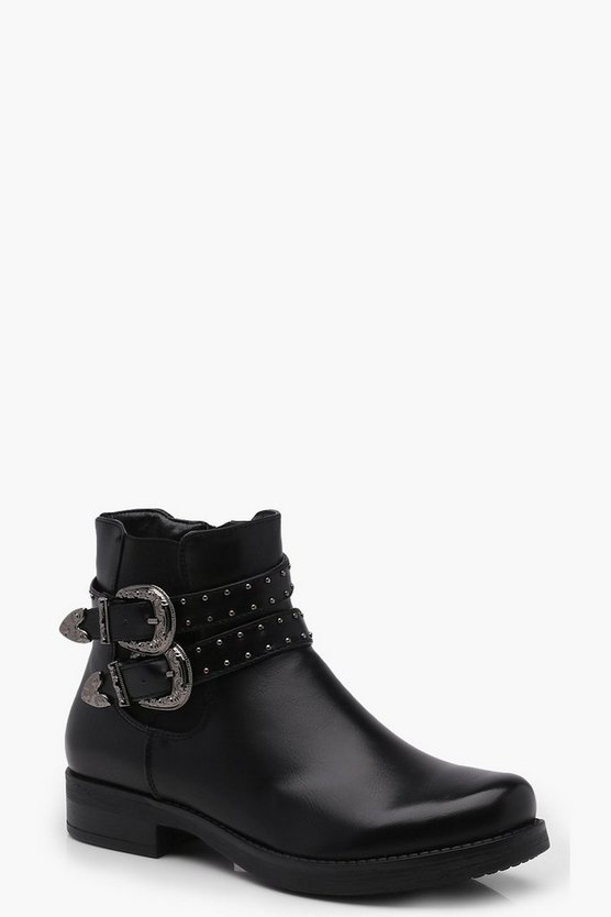 Lucia Stud & Buckle Chelsea Boot