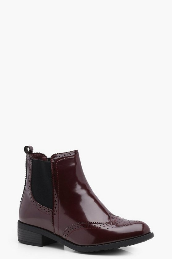 Kara Pin Punch Detail Chelsea Boot