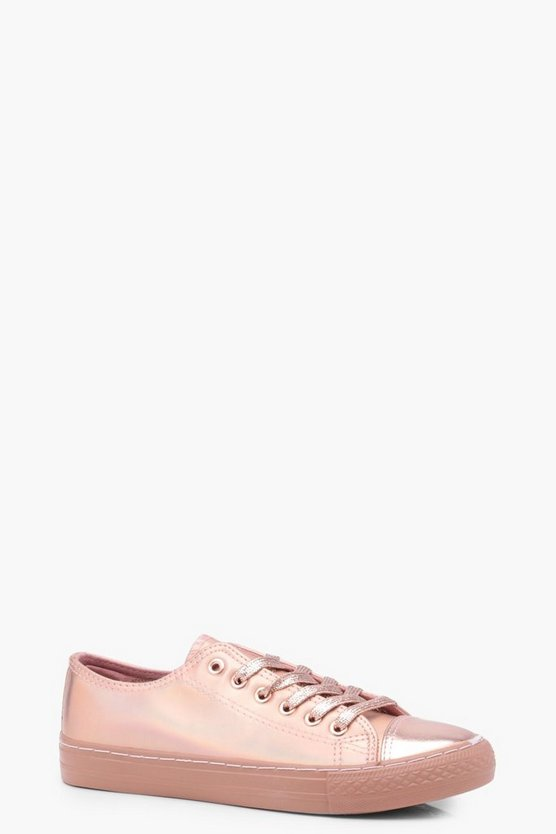 Betsy Metallic Lace Up Trainers