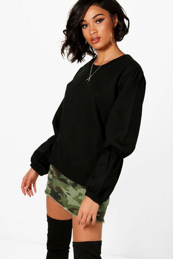 Nicole Elasticated Balloon Sleeve Sweatshirt