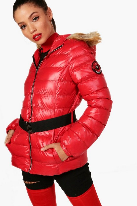Sophia Belted Padded Jacket