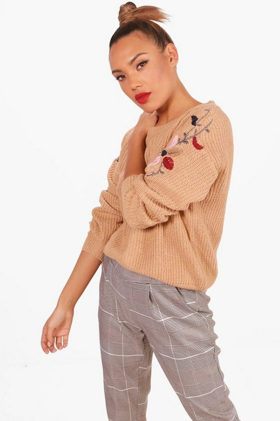 Mischa Scallop Trim Embroidery Jumper