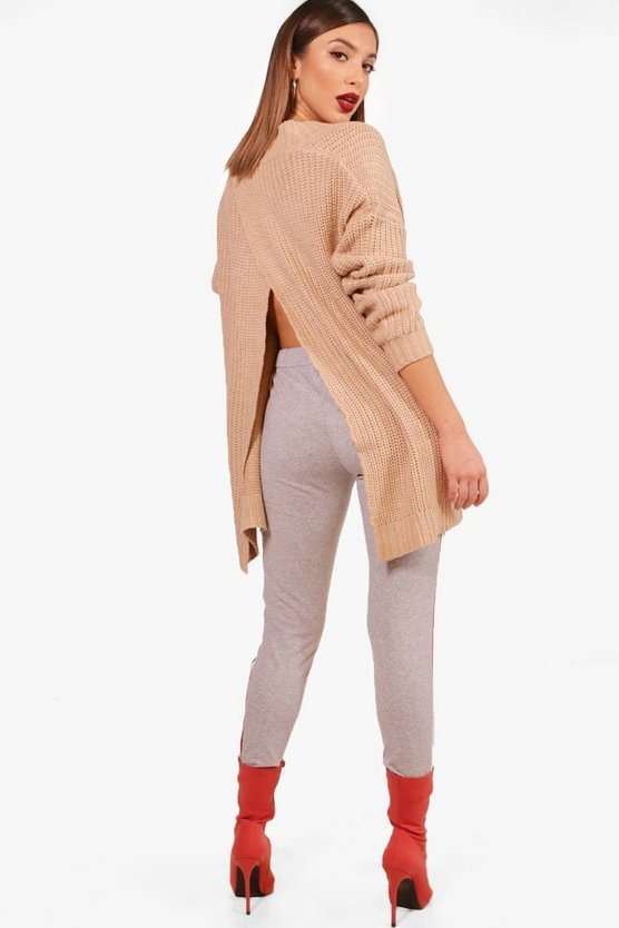 Nancy V Neck Split Back Jumper
