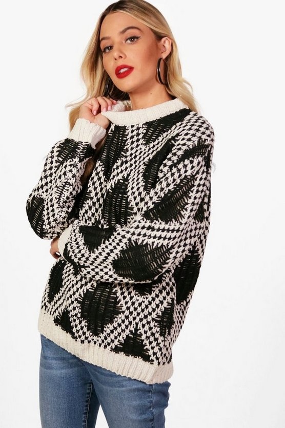Silvia Chunky Knit Patterned Sweater