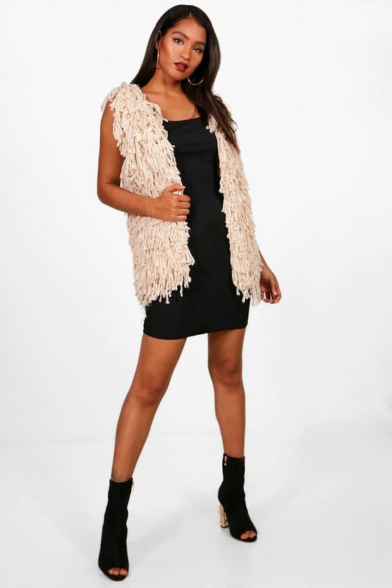 Cindy Knitted Fringe Gilet
