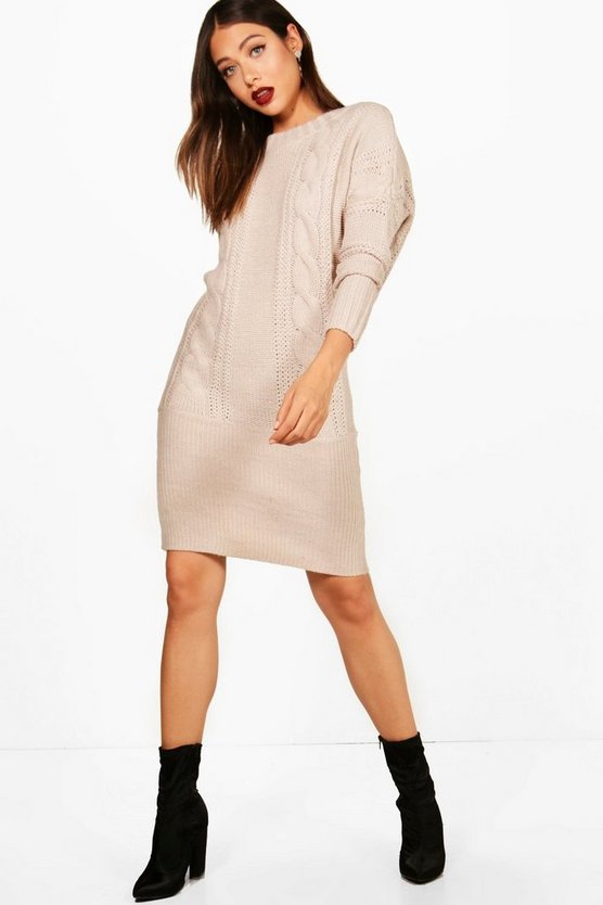 Kelsie Batwing Jumper Dress
