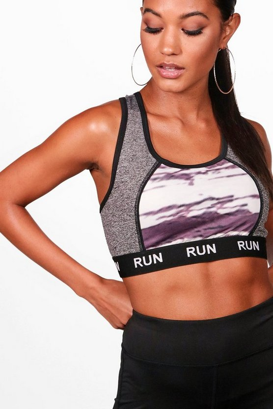 "Conjunto deportivo con eslogan ""Run"" fit"