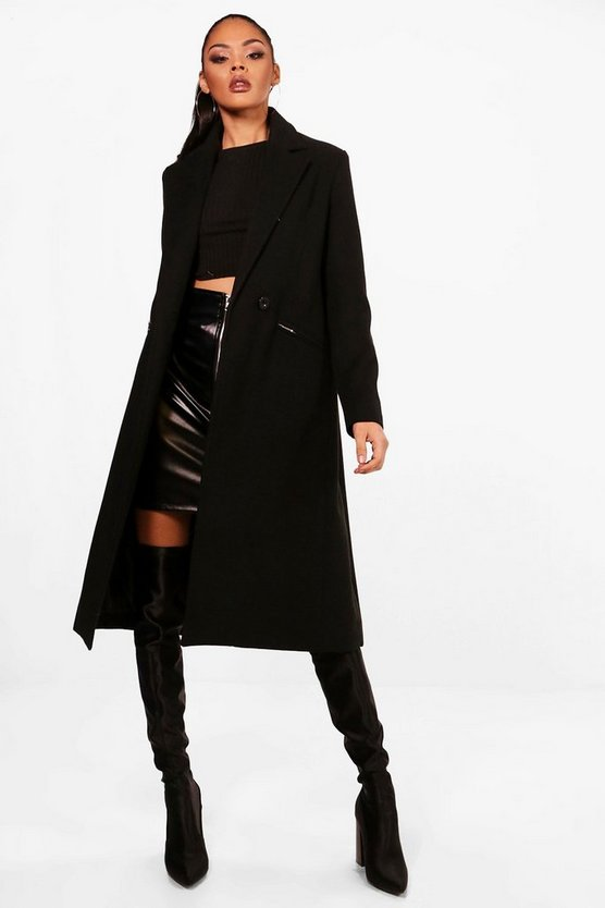Isobel Zip Pocket Tailored Coat