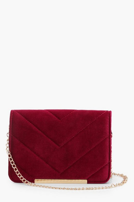 Maya Velvet Quilt & Bar Cross Body