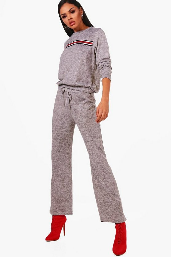 Adrianna Sport Stripe Front Knitted Lounge Set
