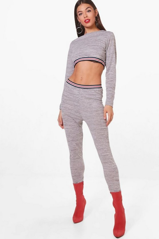 Emma Knitted Sports Trim Detail Knitted Set