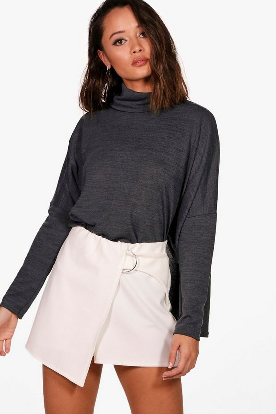 Oversized Roll Neck Top
