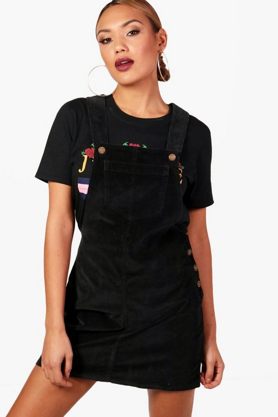 Aimee Cord Pinafore Dress