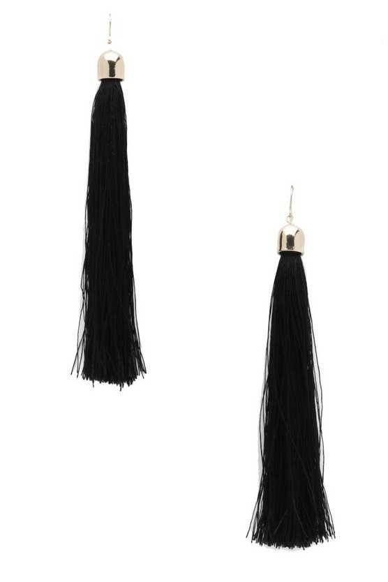 Lucy Long Statement Tassel Earrings