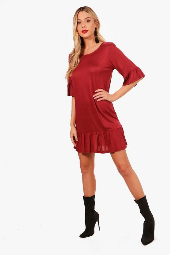 Emma Frill Sleeve Shift Dress