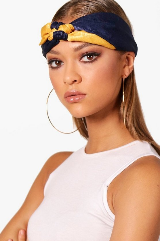 Sarah Double Knot Satin Headband
