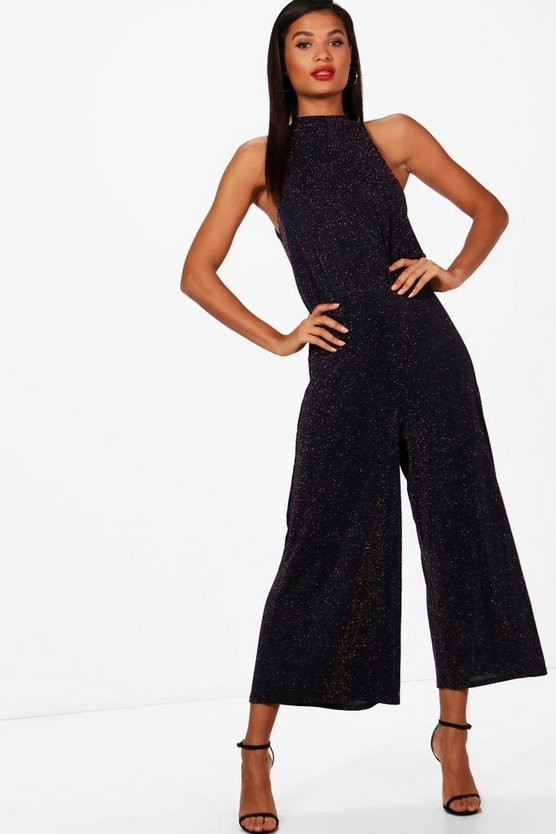 High Neck Culotte Jumpsuit