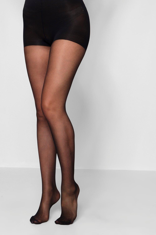 boohoo Womens 15 Denier Shaper Tights - Black - One Size, Black