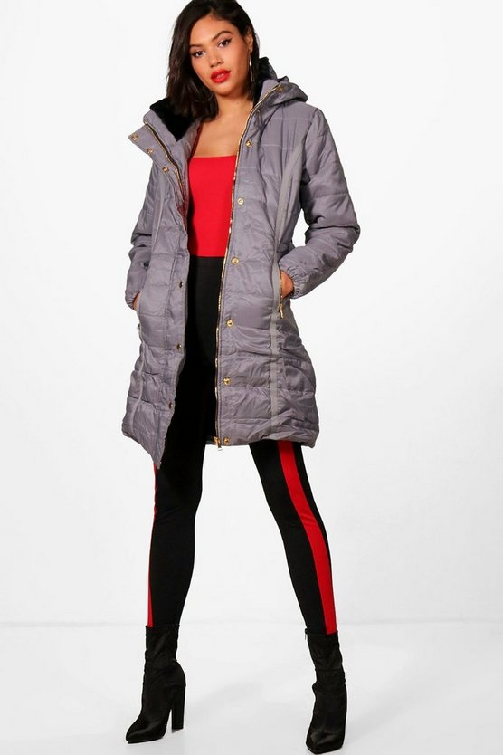 Longline Belted Padded Jacket
