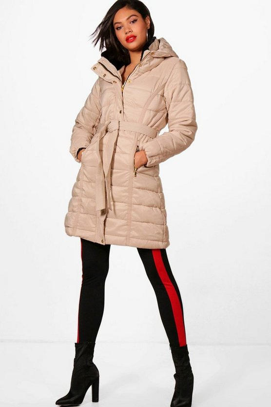 Lauren Longline Belted Padded Jacket